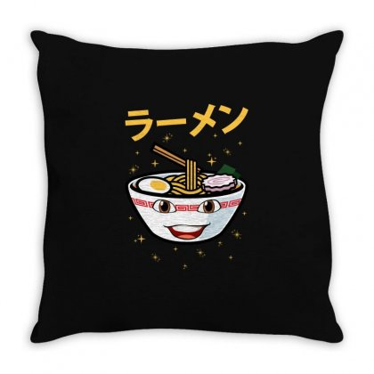 Cute Ramen For Dark Throw Pillow Designed By Nurbetulk