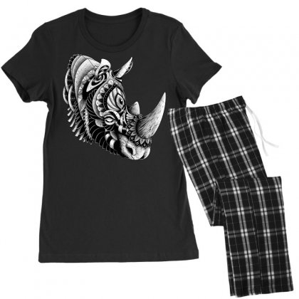 Rhino Ornate Women's Pajamas Set Designed By Quilimo