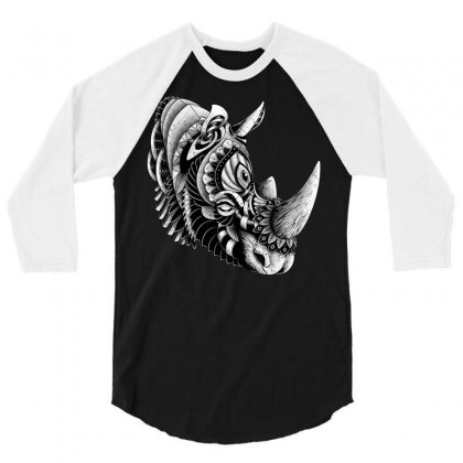 Rhino Ornate 3/4 Sleeve Shirt Designed By Quilimo