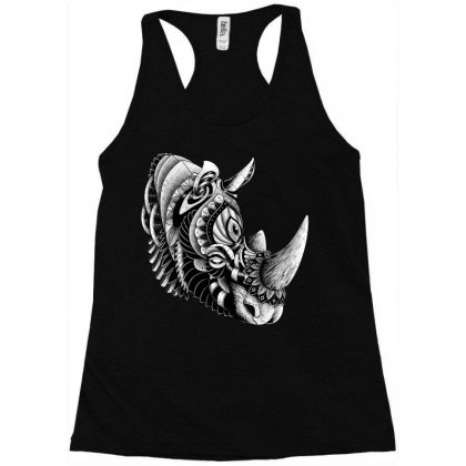 Rhino Ornate Racerback Tank Designed By Quilimo