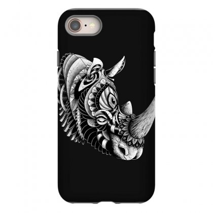 Rhino Ornate Iphone 8 Case Designed By Quilimo