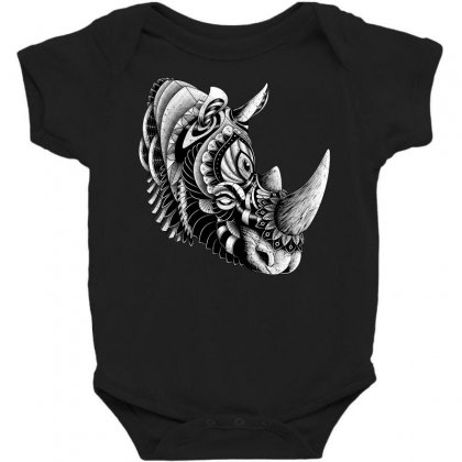 Rhino Ornate Baby Bodysuit Designed By Quilimo