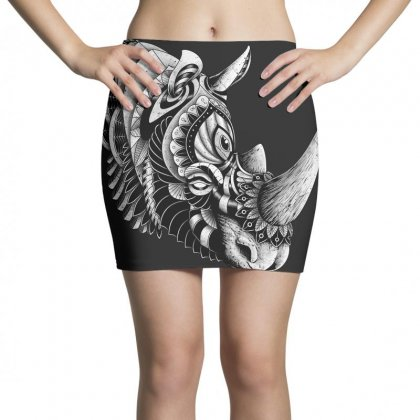 Rhino Ornate Mini Skirts Designed By Quilimo