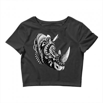 Rhino Ornate Crop Top Designed By Quilimo