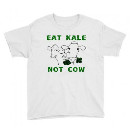 Eat Kale Not Cow Youth Tee Designed By Hardpoi