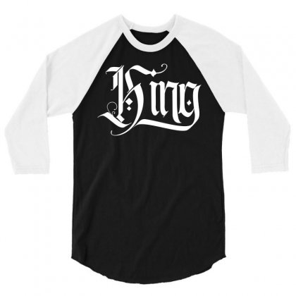 King 3/4 Sleeve Shirt Designed By Tiococacola