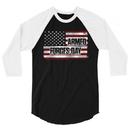 Armed Forces Day T Shirt 3/4 Sleeve Shirt Designed By Hung