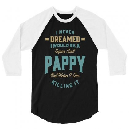 Super Cool Pappy 3/4 Sleeve Shirt Designed By Cidolopez