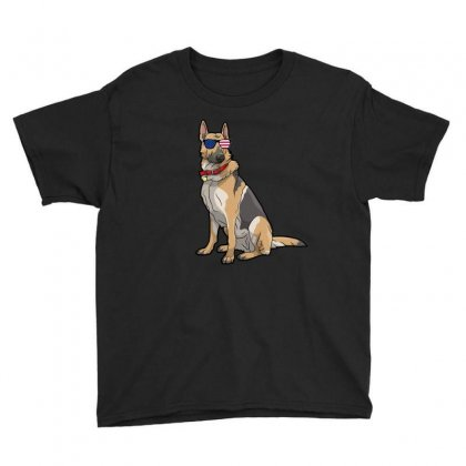 German Shephered Independence Day T Shirt Youth Tee Designed By Hung