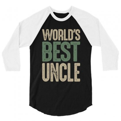 World's Best Uncle 3/4 Sleeve Shirt Designed By Cidolopez