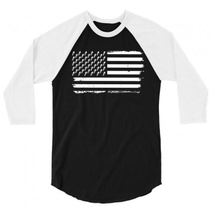 Firework Flag   Independence Day T Shirt 3/4 Sleeve Shirt Designed By Hung