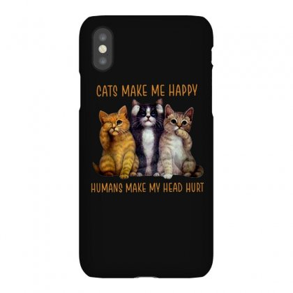 Happy Cats Iphonex Case Designed By Frizidan