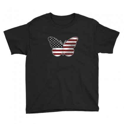 Butterfly Independence Day T Shirt Youth Tee Designed By Hung