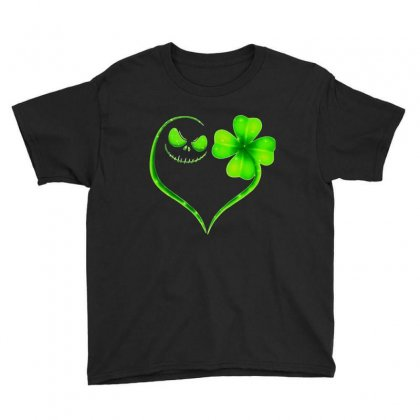 Green Clover Youth Tee Designed By Frizidan