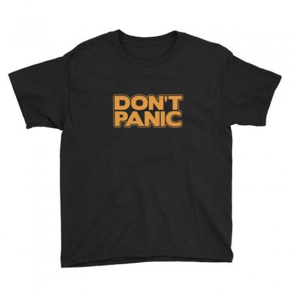 Don't Panic Youth Tee Designed By Fejena