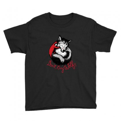 Dont Cry Wolf Youth Tee Designed By Fejena