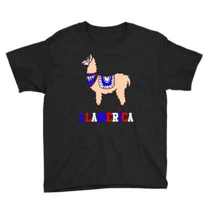 Llamerica T Shirt Youth Tee Designed By Hung