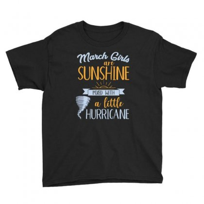 March Girls Are Sunshine T Shirt Youth Tee Designed By Hung