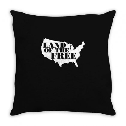Land Of The Free T Shirt Throw Pillow Designed By Hung