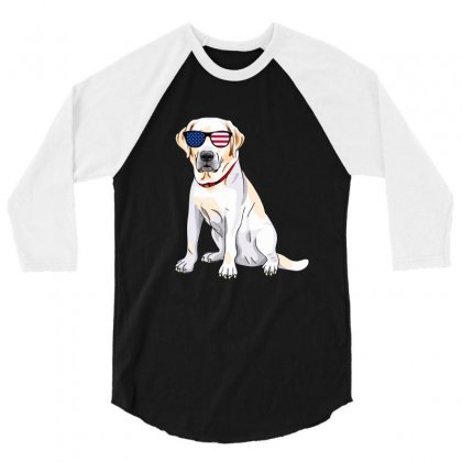 Labrador Independence Day T Shirt 3/4 Sleeve Shirt Designed By Hung