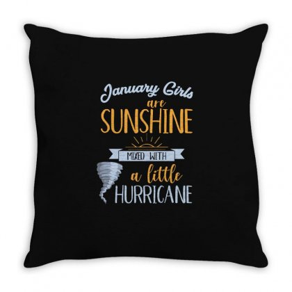 January Girls Are Sunshine T Shirt Throw Pillow Designed By Hung