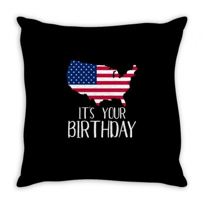 It Is Your Birthday T Shirt Throw Pillow Designed By Hung
