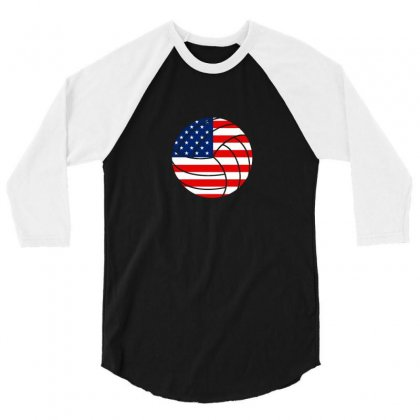 Independence Day Volleyball T Shirt 3/4 Sleeve Shirt Designed By Hung