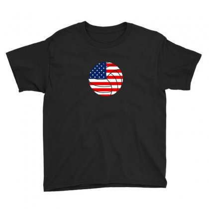 Independence Day Volleyball T Shirt Youth Tee Designed By Hung
