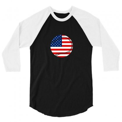 Independence Day Tennis T Shirt 3/4 Sleeve Shirt Designed By Hung