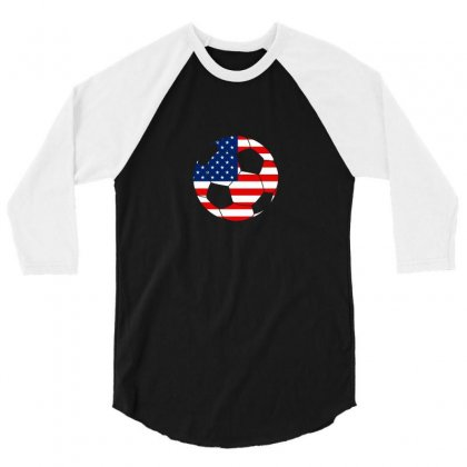 Independence Day Soccer T Shirt 3/4 Sleeve Shirt Designed By Hung