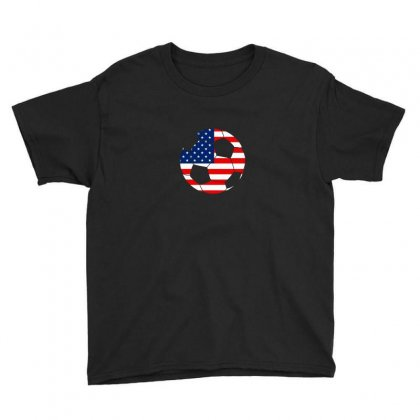 Independence Day Soccer T Shirt Youth Tee Designed By Hung