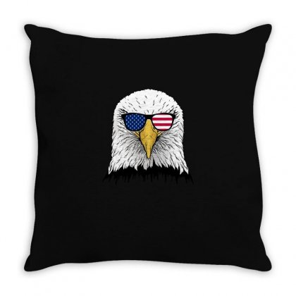 Independence Day Eagle T Shirt Throw Pillow Designed By Hung