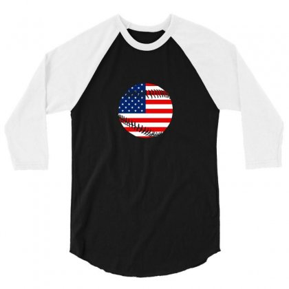 Independence Day Baseball T Shirt 3/4 Sleeve Shirt Designed By Hung