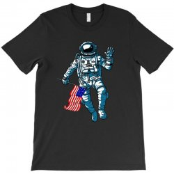 independence day astronaut usa flag t shirt T-Shirt | Artistshot