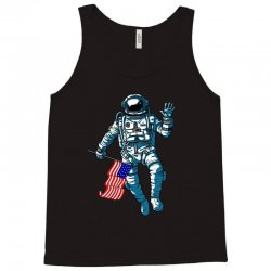 independence day astronaut usa flag t shirt Tank Top | Artistshot
