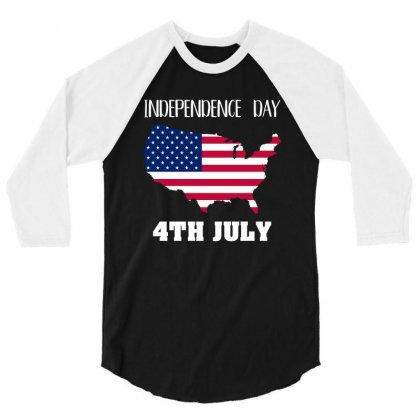 Independence Day 4th July T Shirt 3/4 Sleeve Shirt Designed By Hung