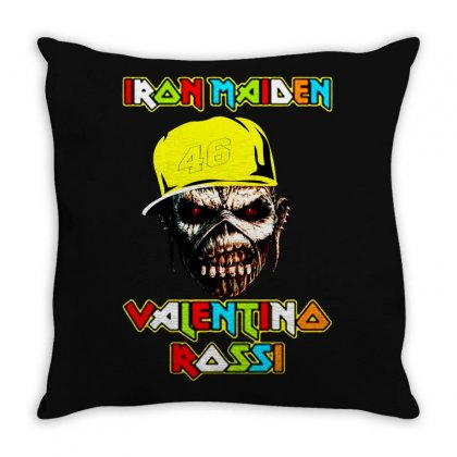 Iran Maiden Throw Pillow Designed By Frizidan