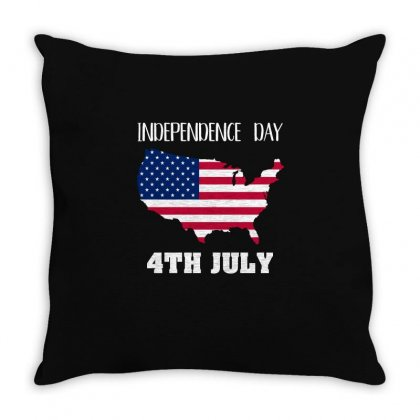 Independence Day 4th July T Shirt Throw Pillow Designed By Hung