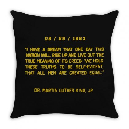 I Have A Dream Throw Pillow Designed By Frizidan