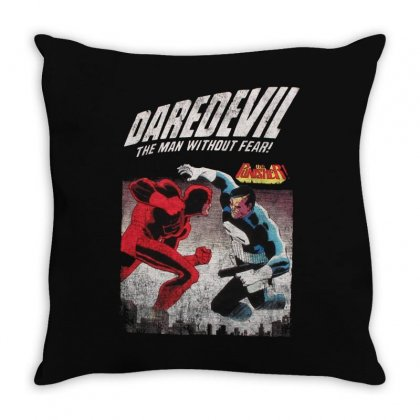 Dare Devil Throw Pillow Designed By Fejena