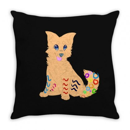 Cute Dog Throw Pillow Designed By Fejena