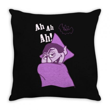 Count Von Count   Ah Ah Ah! Throw Pillow Designed By Fejena