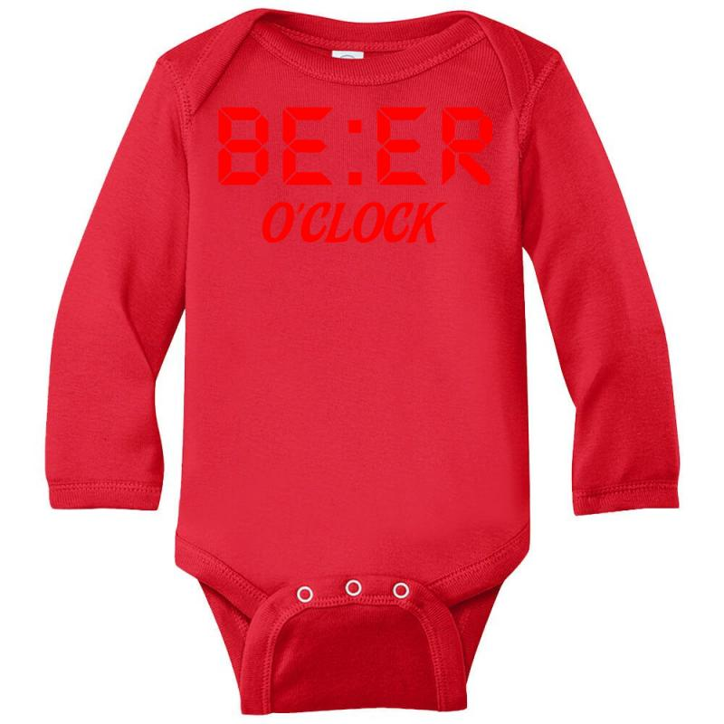 Beer O'clock Long Sleeve Baby Bodysuit | Artistshot