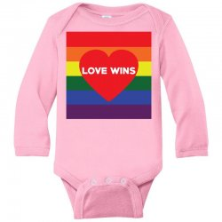 Love Wins Long Sleeve Baby Bodysuit | Artistshot