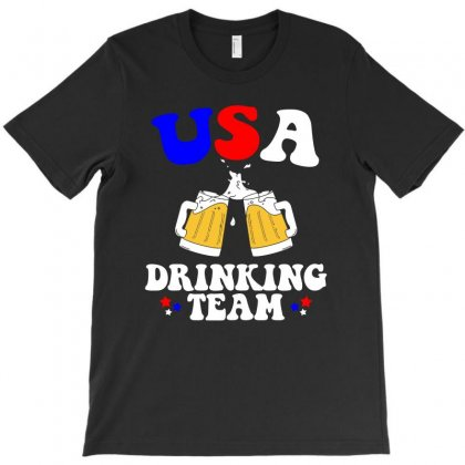 Usa Drinking Team T Shirt T-shirt Designed By Hung