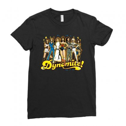 Dynamite Ladies Fitted T-shirt Designed By Fejena