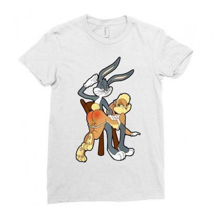 Sexy Rabbits Ladies Fitted T-shirt Designed By Frizidan
