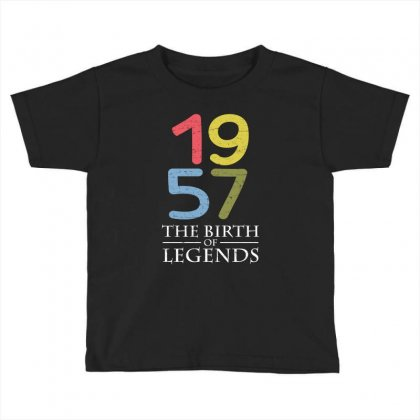 1957 The Birth Of Legends T Shirt Toddler T-shirt Designed By Hung