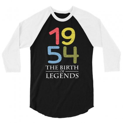 1954 The Birth Of Legends T Shirt 3/4 Sleeve Shirt Designed By Hung