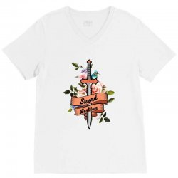 sword lesbian for light V-Neck Tee | Artistshot